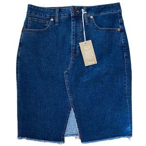 Madewell Denim Skirt 8 29 NWT Front Slit Pockets